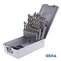Набір свердл (1-13 мм з кроком 0,5 мм) DIN 338 HSS-G  Powerspike  25-ч. GSR Німеччина