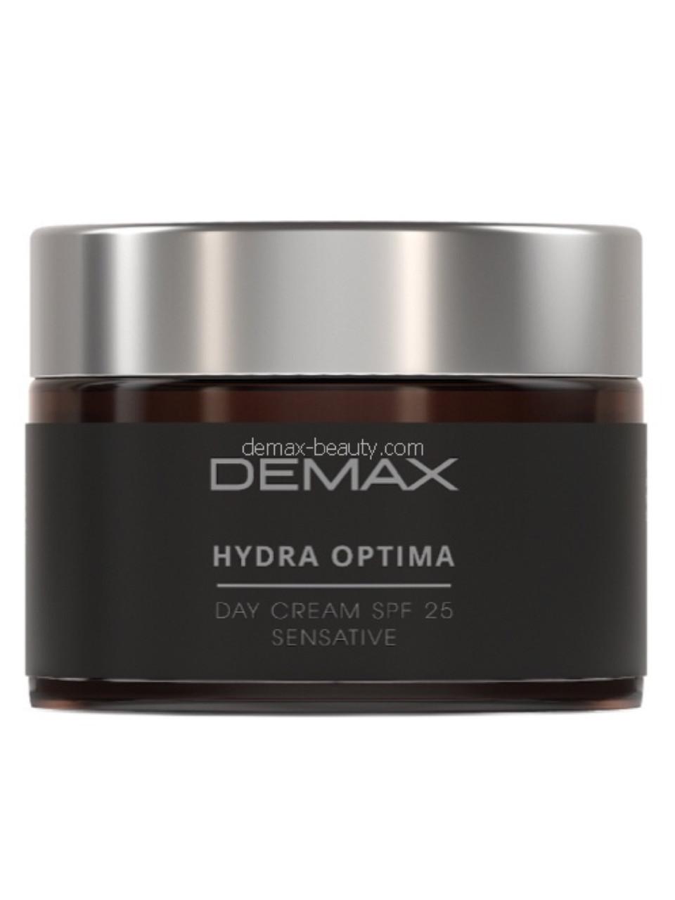 Крем для лица увлажняющий Demax spf 25 Нydra optima day cream spf 25 sensitive 50ml арт.224