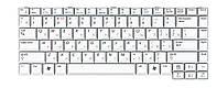 Клавиатура для ноутбука Samsung  White, RU