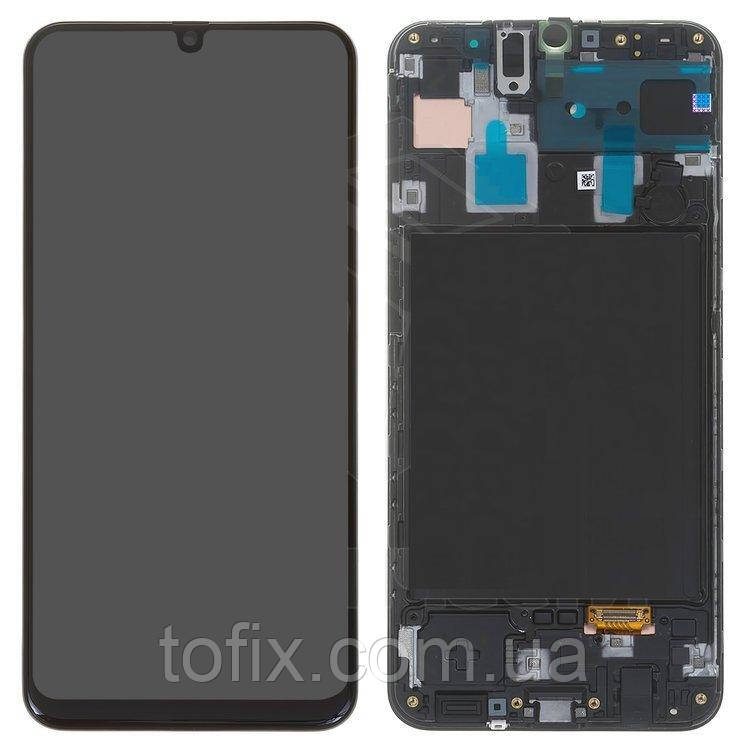 Дисплей для Samsung A305 Galaxy A30 (2019), модуль в сборе (экран и сенсор), с рамкой, оригинал #GH82-19202A