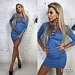 Женское трикотажное платье со шнуровкой , фото 8