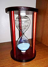 Часы песочные в дереве на 10 минут