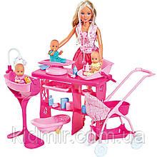 Лялька Штеффі набір Догляд за трьома малюками Steffi Simba 5733212