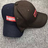 Зимние шерстяные кепки бейсболки SUPREME оригинал