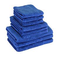 Махровое полотенце для волос 50х90см, Индия, 500 г/м, синего цвета