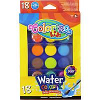 Краски акварельные, большие таблетки 18 цветов, COLORINO, 54737PTR