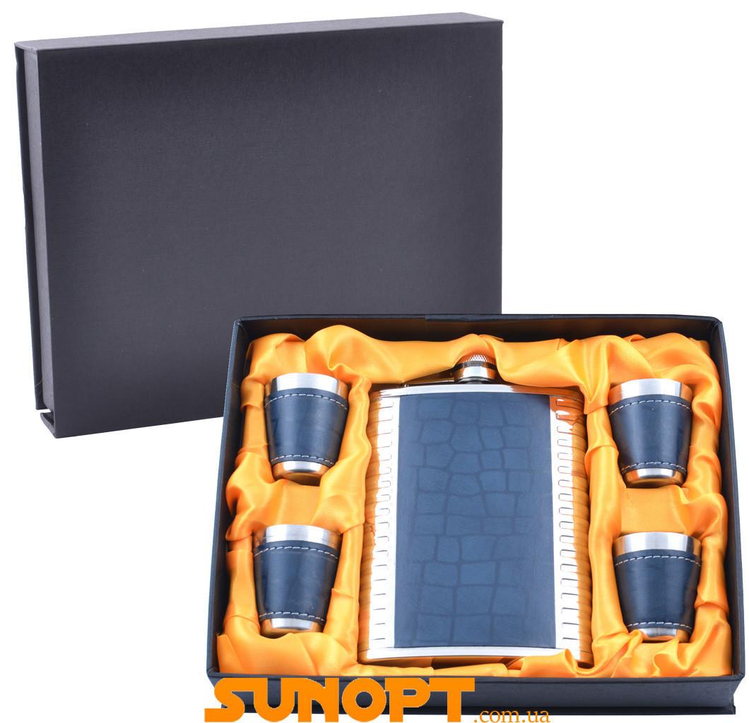 Подарунковий набір з флягою (Шкіра) №GT-18-7