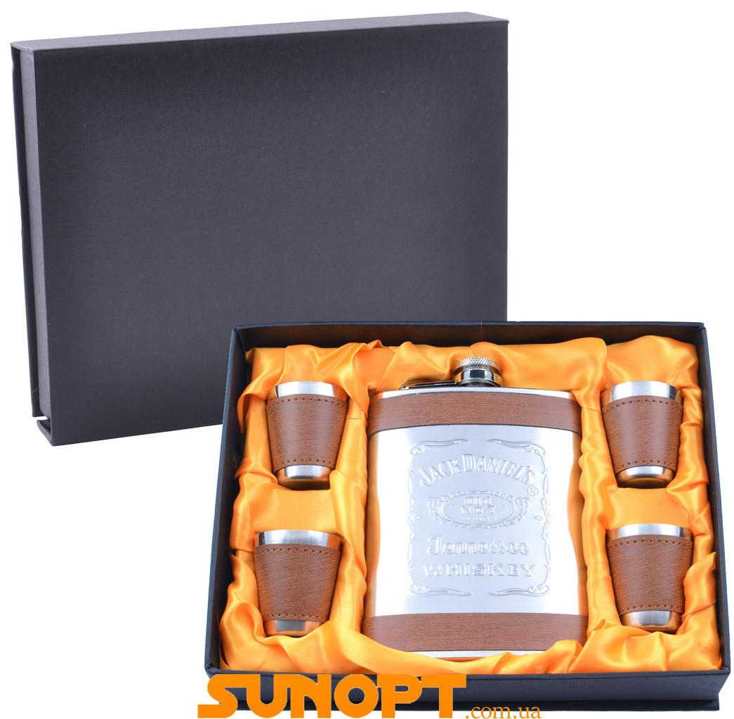 Подарунковий набір з флягою Jack daniel's (Шкіра) №GT-19-6