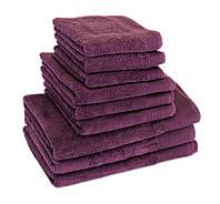 Махровое полотенце для волос 50х90см, Индия, 500 г/м, фиолетового цвета