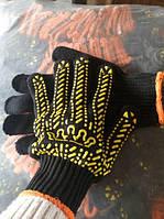 Перчатки вязаные плотные с ПВХ точкой Корона