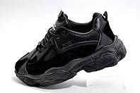 Женские кроссовки на высокой подошве, Осенние (Черные)