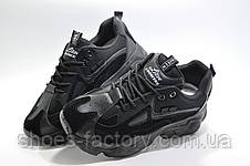 Женские кроссовки на высокой подошве, Осенние (Черные), фото 2