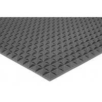 Акустический поролон Ecosound пирамида 25мм 2м х 1м черный графит, фото 1