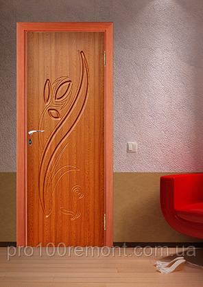 Двері Фенікс серія Моноліт полотно Тюльпан, фото 2