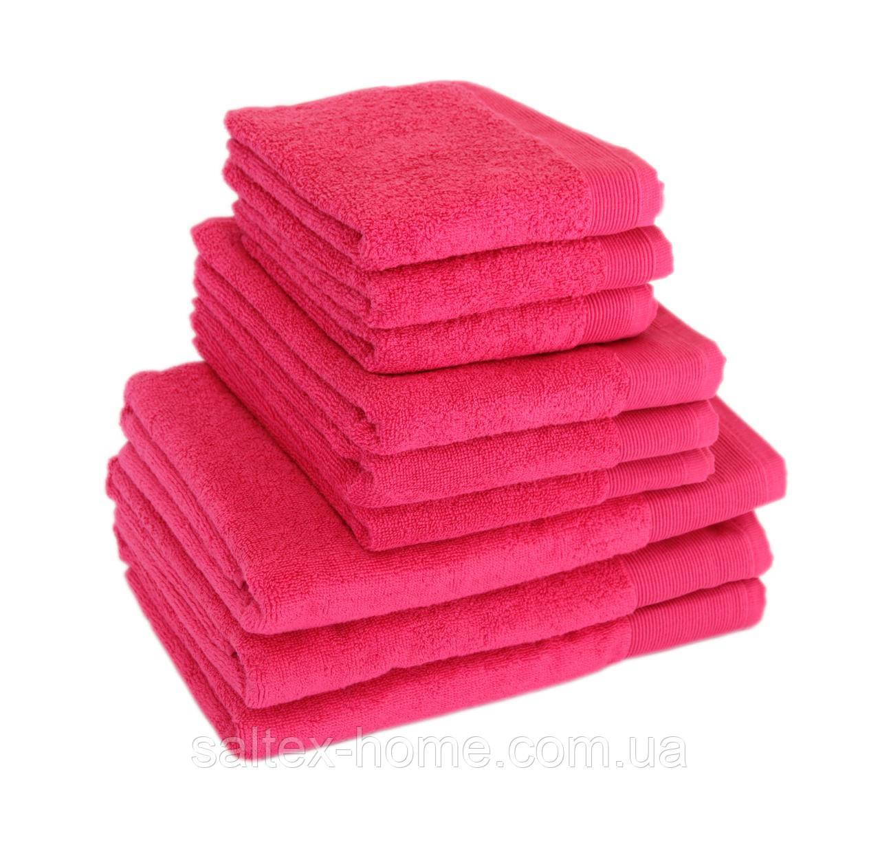 Махровое полотенце для тела 70х140см, Индия, 500 г/м, розового цвета