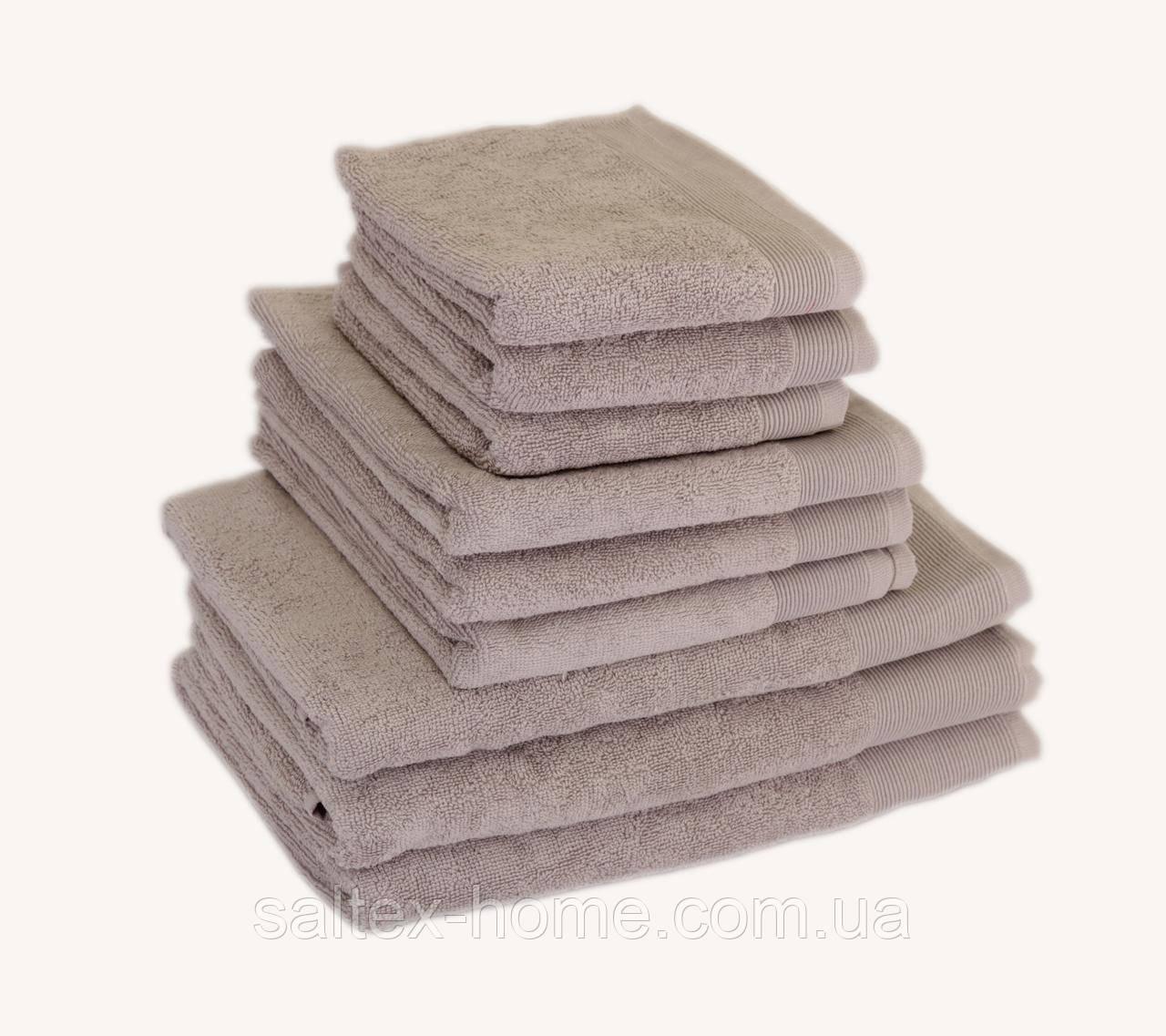 Махровое полотенце для волос 50х90см, Индия, 500 г/м, цвет мокко