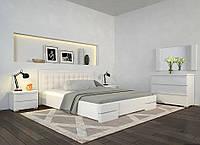 Кровать деревянная Регина Люкс ТМ Арбор Древ сосна, 1400х2000, белый