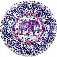 Парео круглое пляжный коврик фиолетовые тона