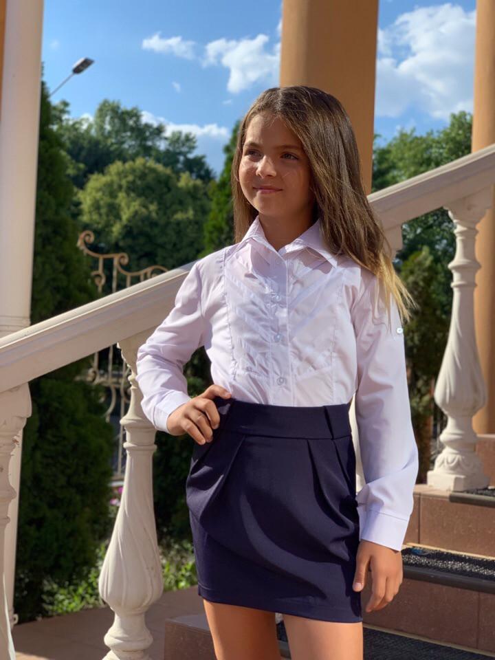 Юбка школьная для девочки черная ,сераяи синяя 122,128,134,140.