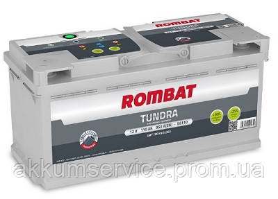 Аккумулятор автомобильный ROMBAT TUNDRA 110AH R+ 950A (E6110)