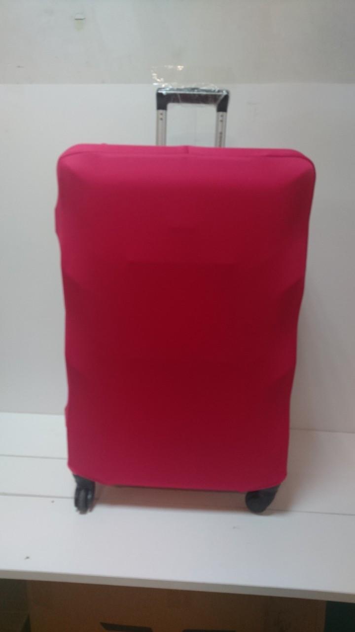 Чехол на чемодан микродайвинг размер L Розовый