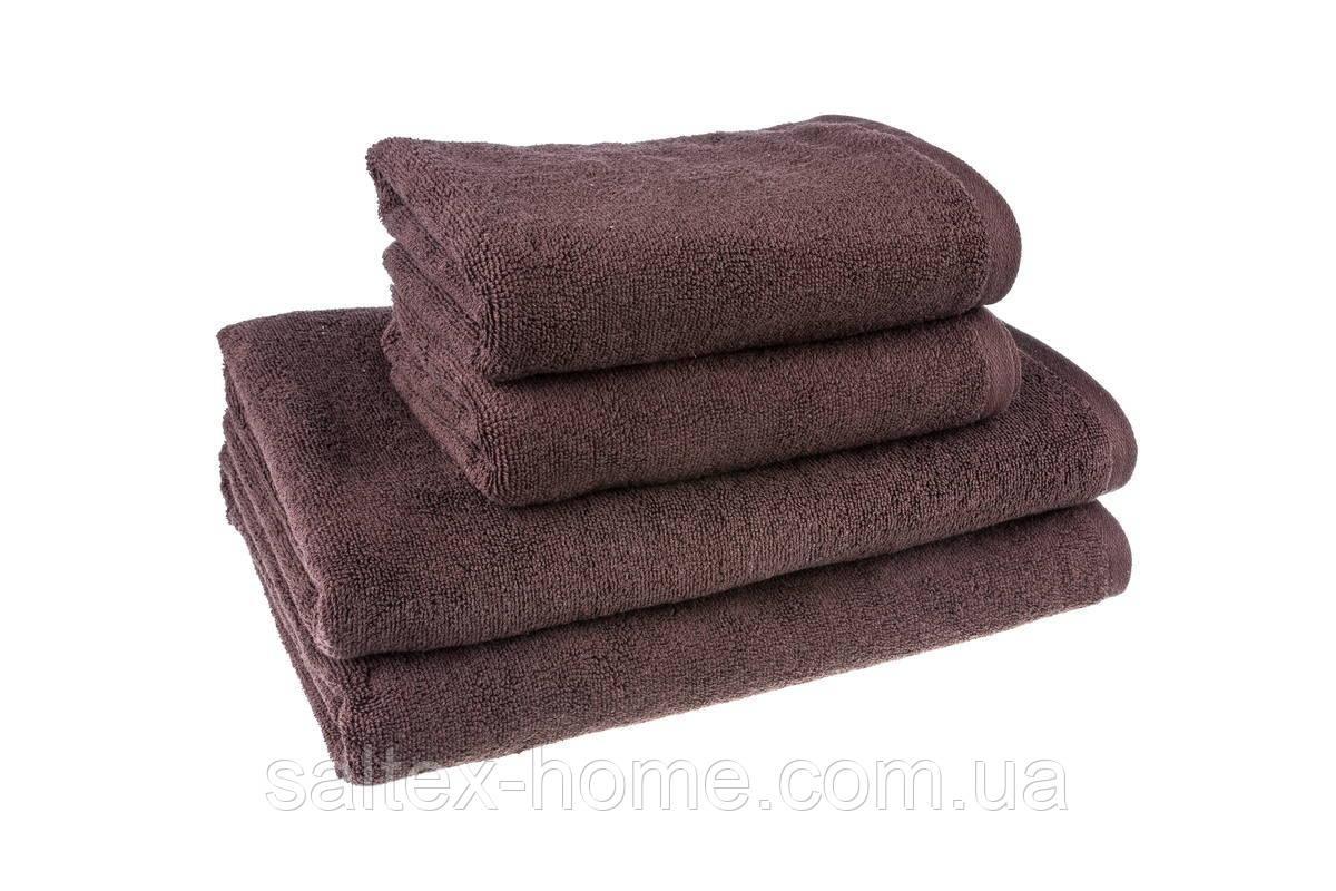 """Махровое полотенце """"Отель"""" 50х90см, Индия, 500 г/м, цвет шоколад"""
