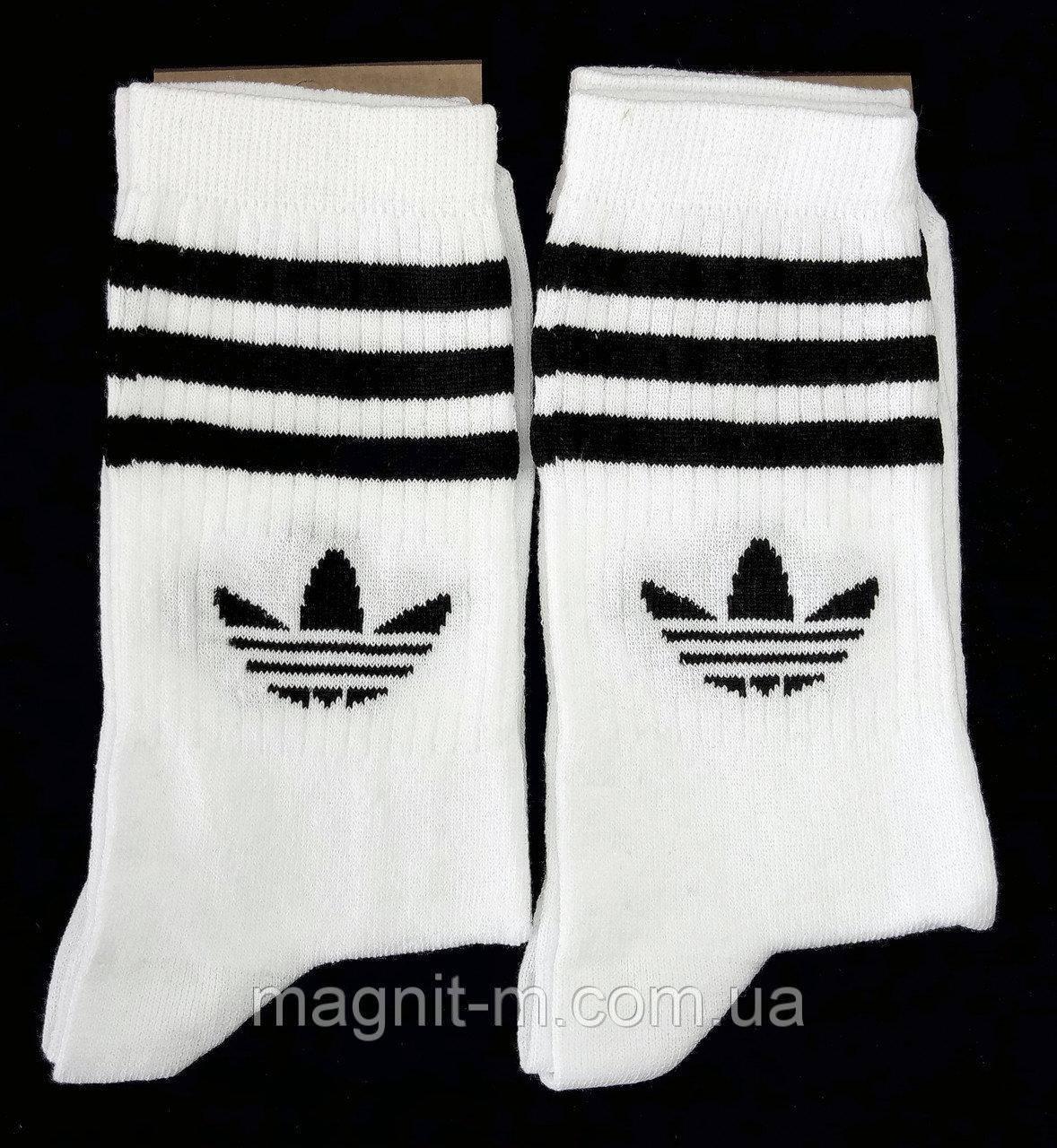 Женские высокие носки белого цвета. Р-р 36-39.
