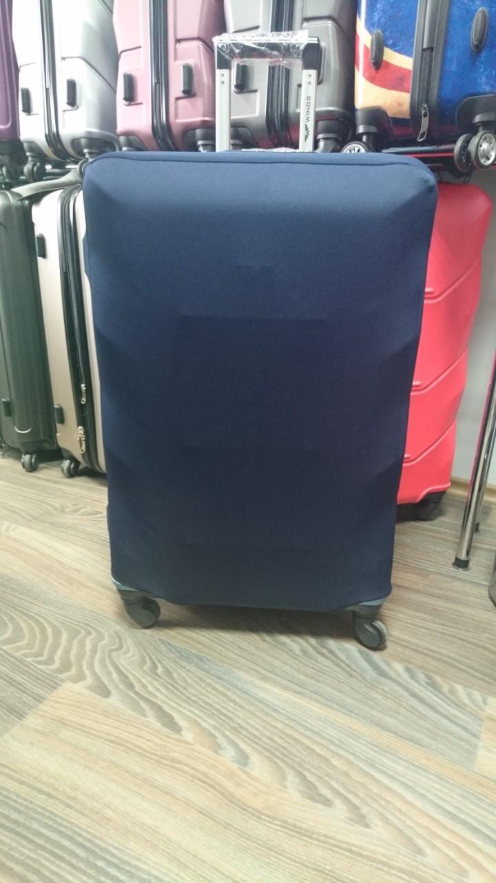 Чехол на чемодан микродайвинг размер M, Темно-синий