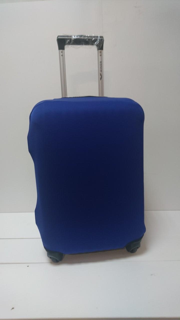 Чехол на чемодан микродайвинг размер M, Светло-синий