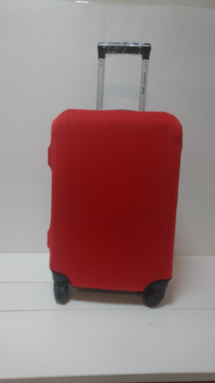 Чехол на чемодан микродайвинг размер M, Красный