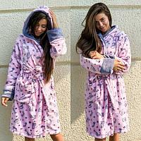 Женский теплый плюшевый домашний халат, фото 1