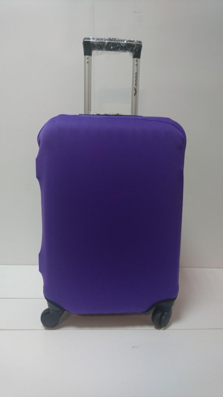 Чехол на чемодан микродайвинг размер M, Темно-фиолетовый