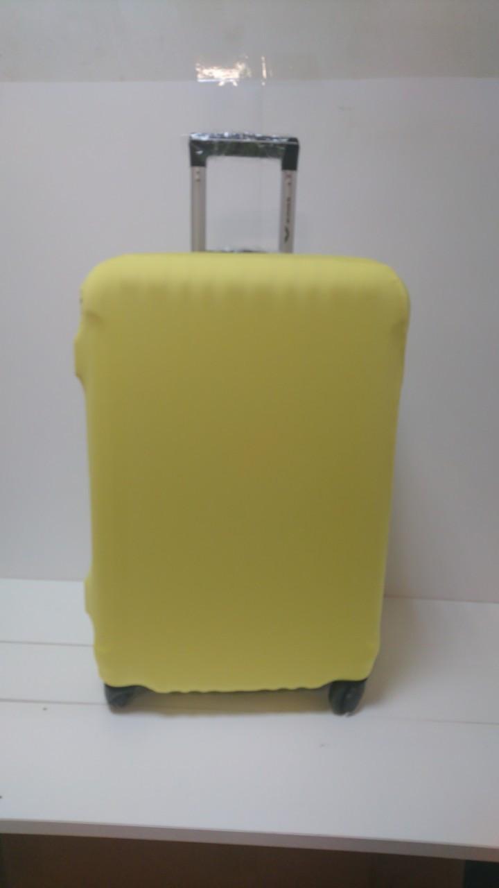 Чехол на чемодан микродайвинг размер M, Желтый