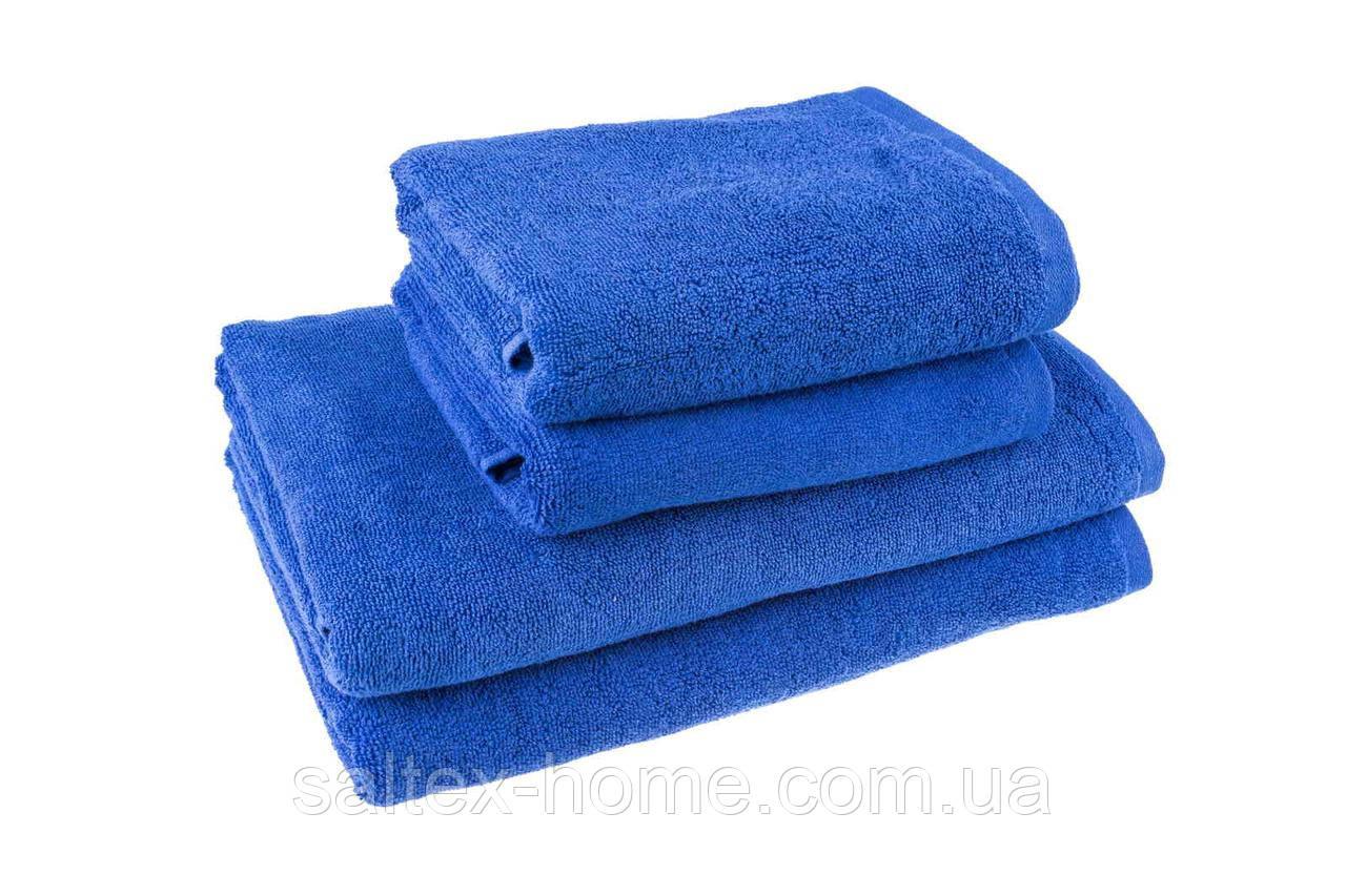 """Махровое полотенце """"Отель"""" 50х90см, Индия, 500 г/м, синего цвета"""