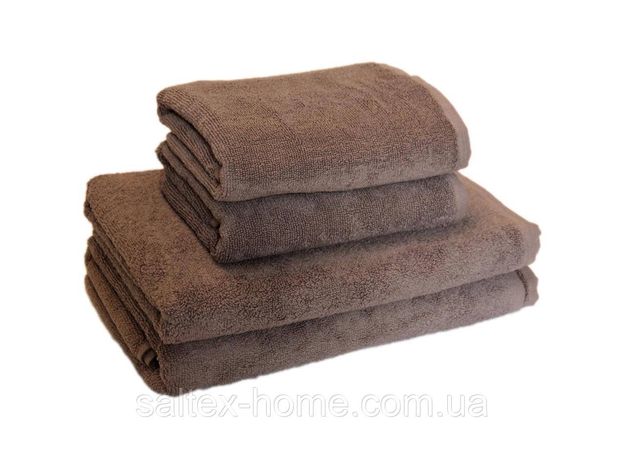 """Махровое полотенце """"Отель"""" 50х90см, Индия, 500 г/м, цвет капучино"""