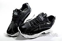Женские кроссовки на танкетке, черные с белым, фото 2