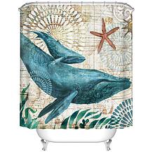 Занавеска-шторка для душа «Кит» 170×180 см