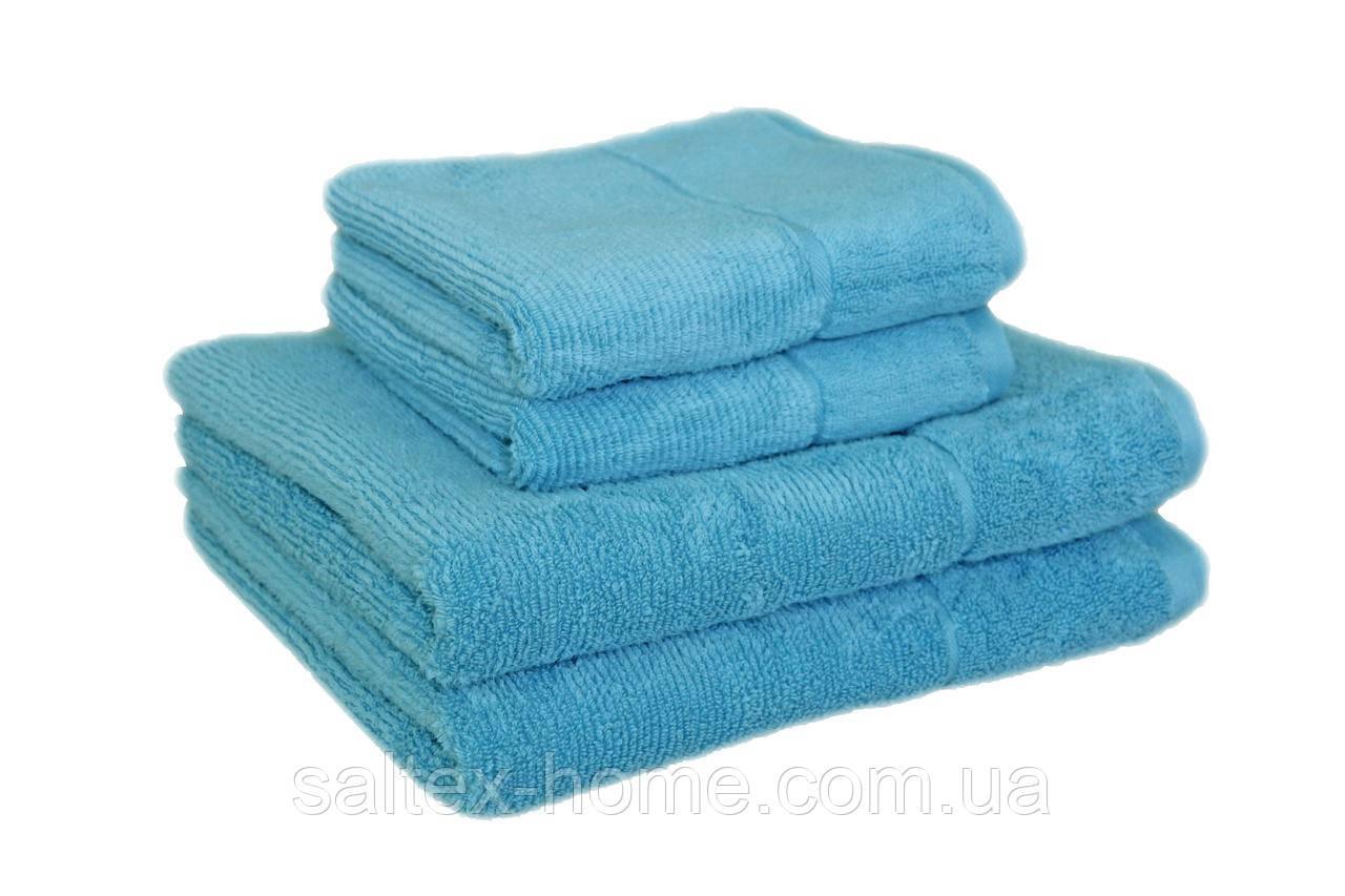"Махровое полотенце ""SPA"" 50х90см, Индия, 450 г/м, голубого цвета"