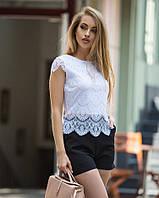 Великолепный роскошный кружевной топ женский из гипюра, красивая летняя одежда для женщин, нарядная блузка