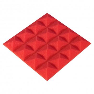 Панель из акустического поролона Ecosound Pyramid Color 15 мм, 20x20 см, красная