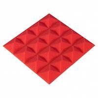 Панель з акустичного поролону Ecosound Pyramid Color 15 мм, 20x20 см, червона