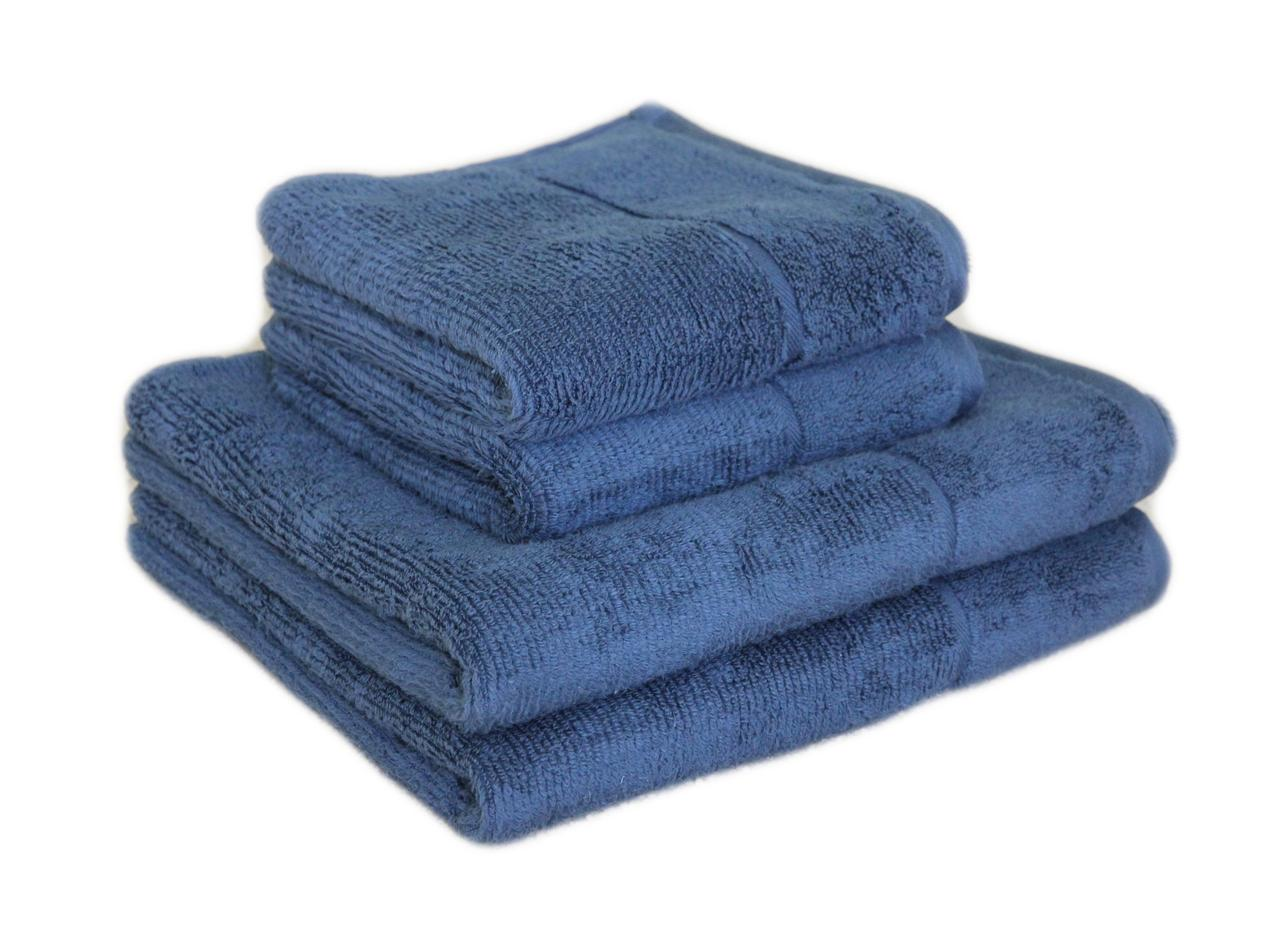 """Махровое полотенце """"SPA"""" 50х90см, Индия, 450 г/м, синего цвета"""
