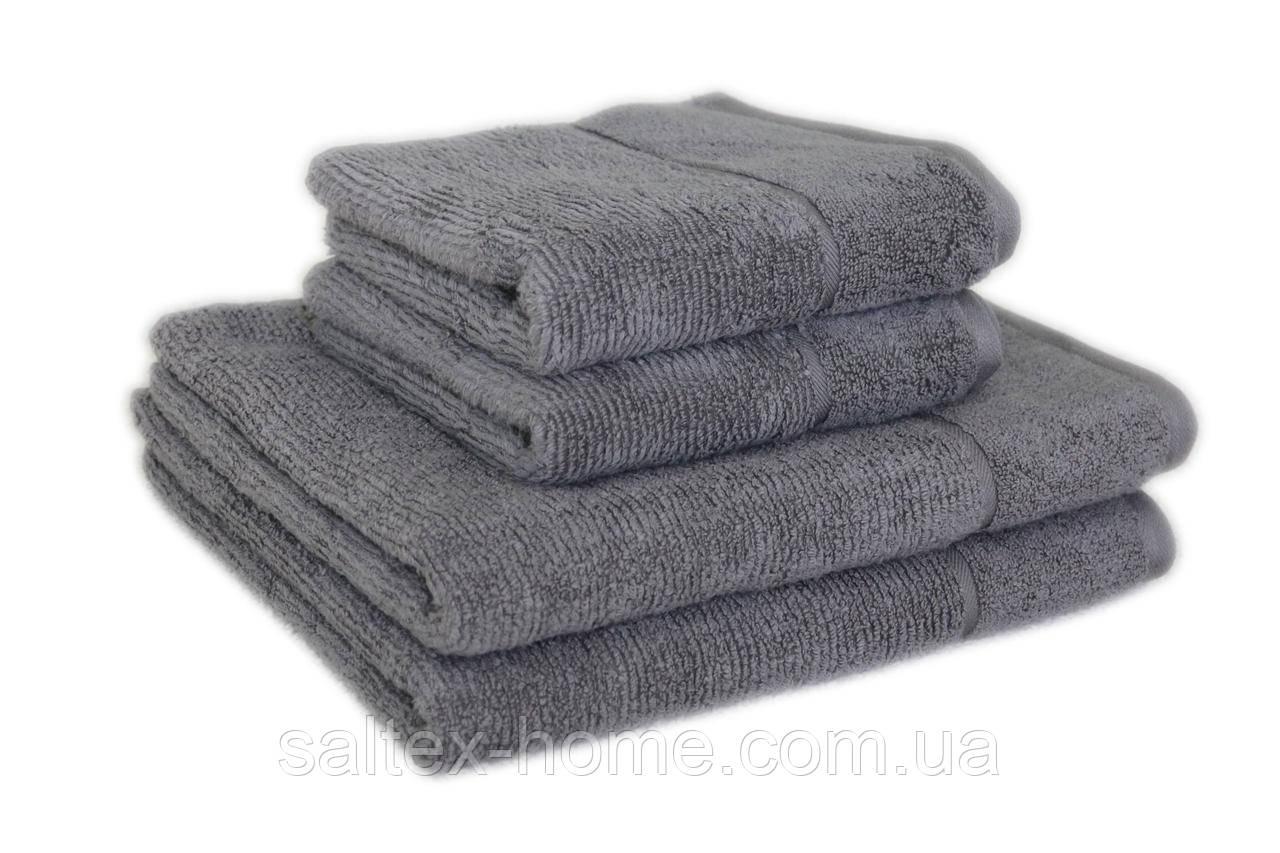 "Махровое полотенце ""SPA"" 70х140см, Индия, 450 г/м, серого цвета"