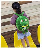 Детский плюшевый рюкзак Крокодил в садик