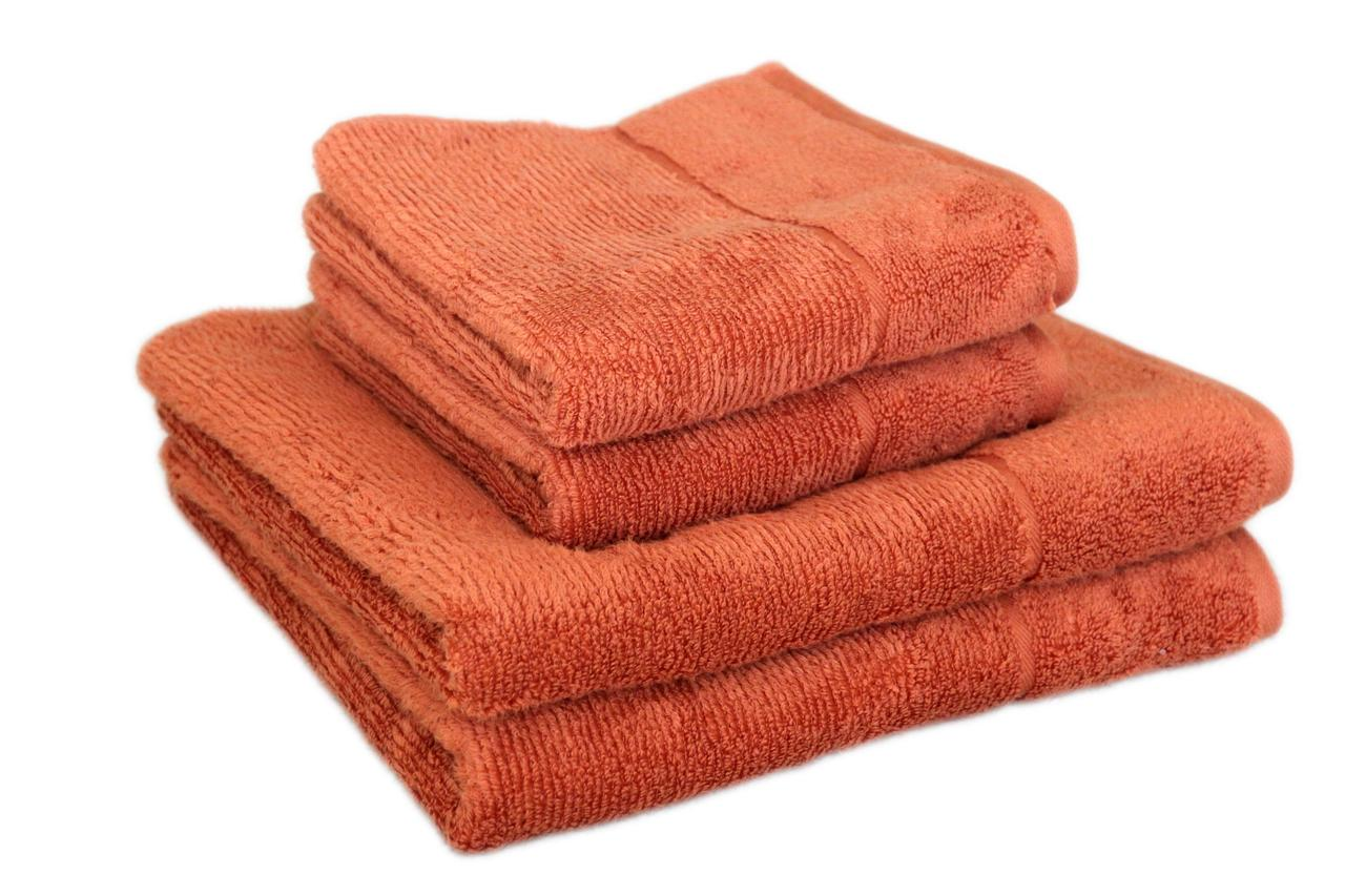 "Махровое полотенце ""SPA"" 50х90см, Индия, 450 г/м, терракотового цвета"