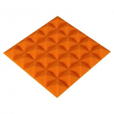 Панель из акустического поролона Ecosound Pyramid Color 20 мм, 25x25 см, оранжевая
