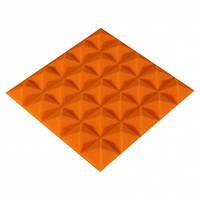 Панель з акустичного поролону Ecosound Pyramid Color 20 мм, 25x25 см, помаранчева
