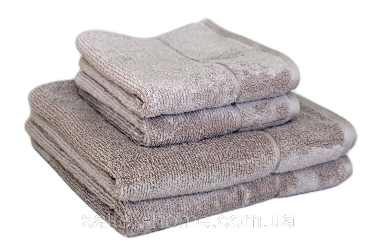 "Махровое полотенце ""SPA"" 50х90см, Индия, 450 г/м, льняного цвета"