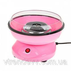 Аппарат для приготовления сладкой ваты Cotton candy maker S5 розовая