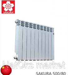 Радиатор алюминиевый SAKURA 500/80. Китай.
